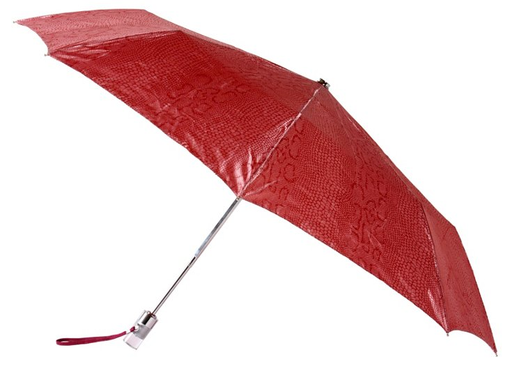 Snake Print Umbrella, Red