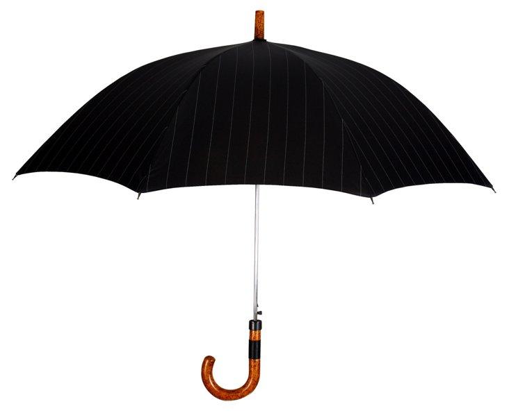 Executive Cane Umbrella, Black/Gray