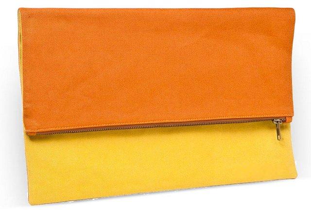 Blank Canvas Clutch, Orange