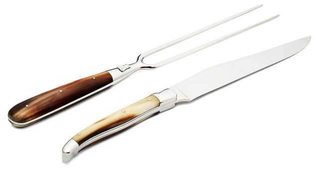 Solid Horn Chef Carving Set