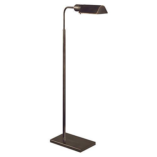 Library Adjustable Floor Lamp, Bronze