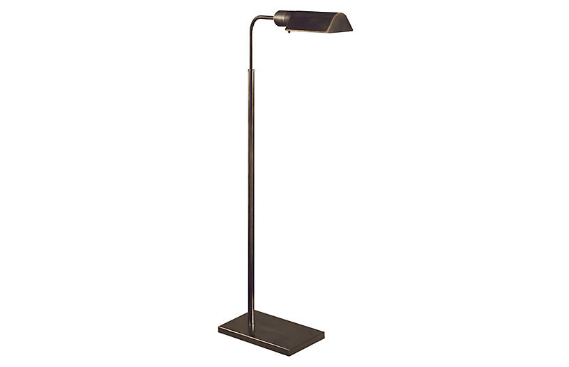 Library Adjustable Floor Lamp, Bronze