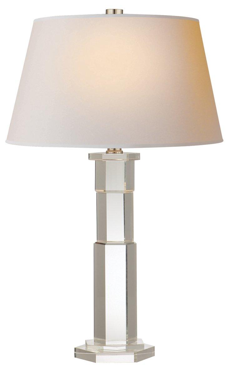 Crystal Hexagon Table Lamp