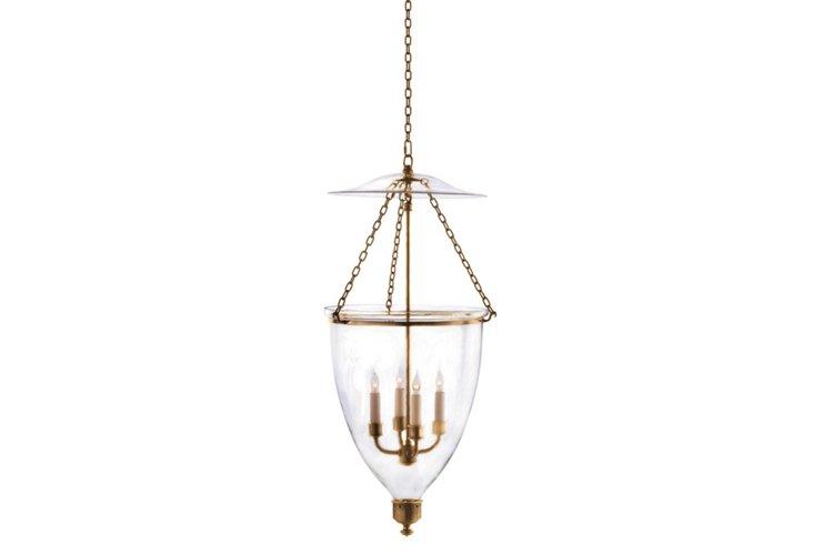 Chelsea Bell Lantern, Antique Brass
