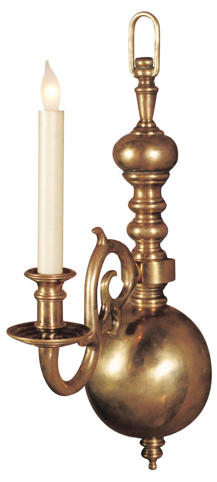 One-Light Sconce, Brass