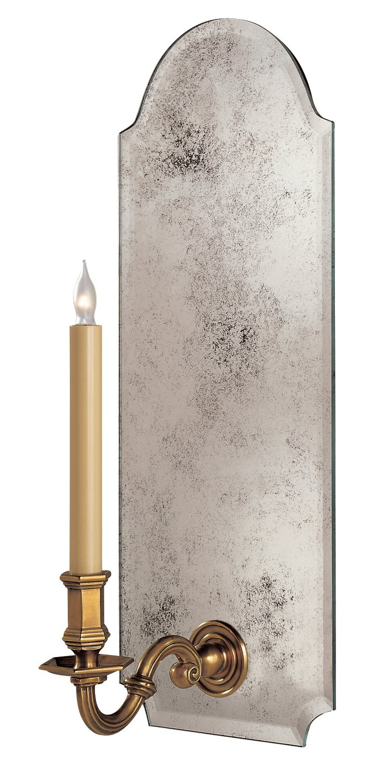 Large Kensington Sconce, Antiqued Mirror
