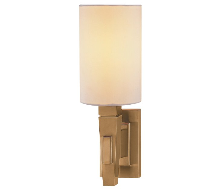 Architects Sconce, Antique Brass
