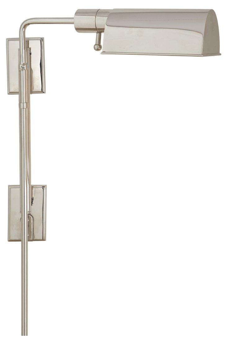 Pask Wall Light, Polished Nickel