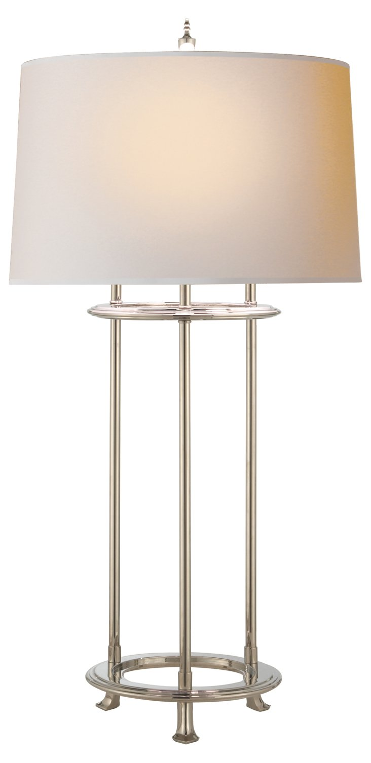 Jayson Buffet Table Lamp, Nickel