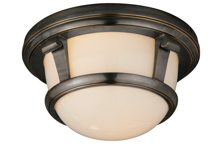 Calliope Frame Ceiling Light, Bronze