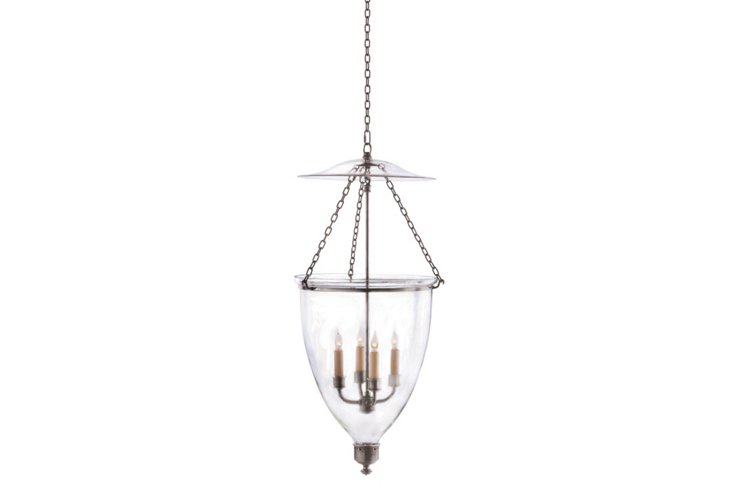 Chelsea Bell Lantern, Polished Nickel