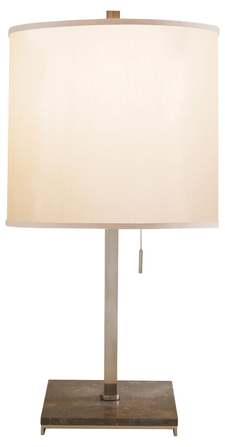 Philosophy Table Lamp, Pewter