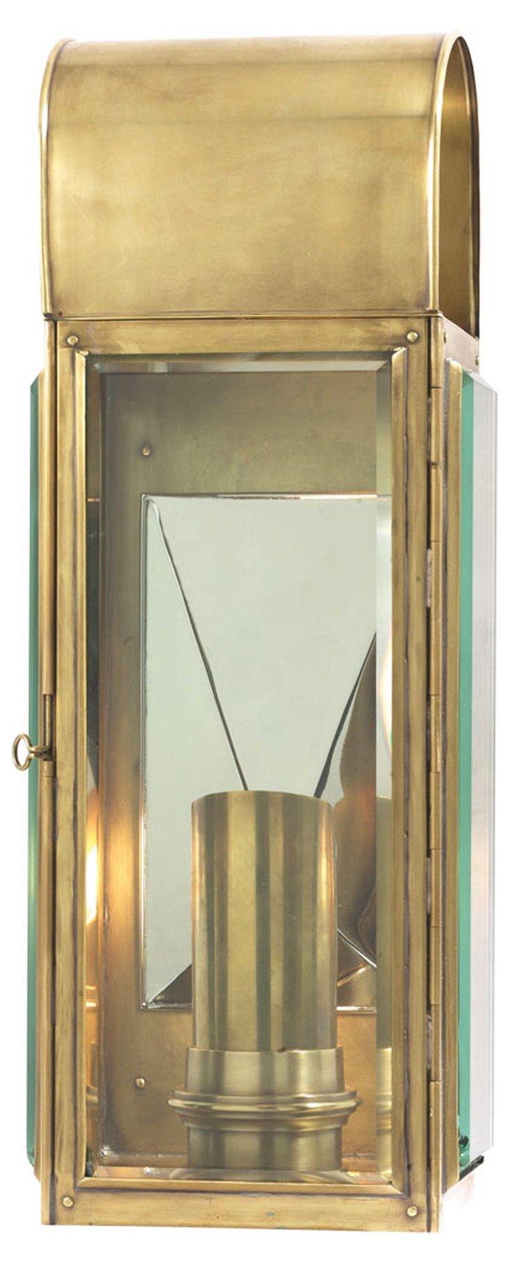 Arch-Top 1-Light Wall Bracket, Brass