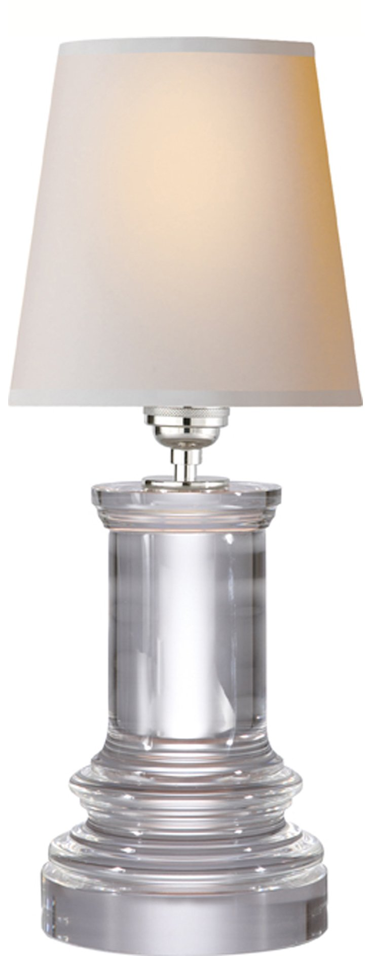 Darin Column Accent Lamp, Crystal