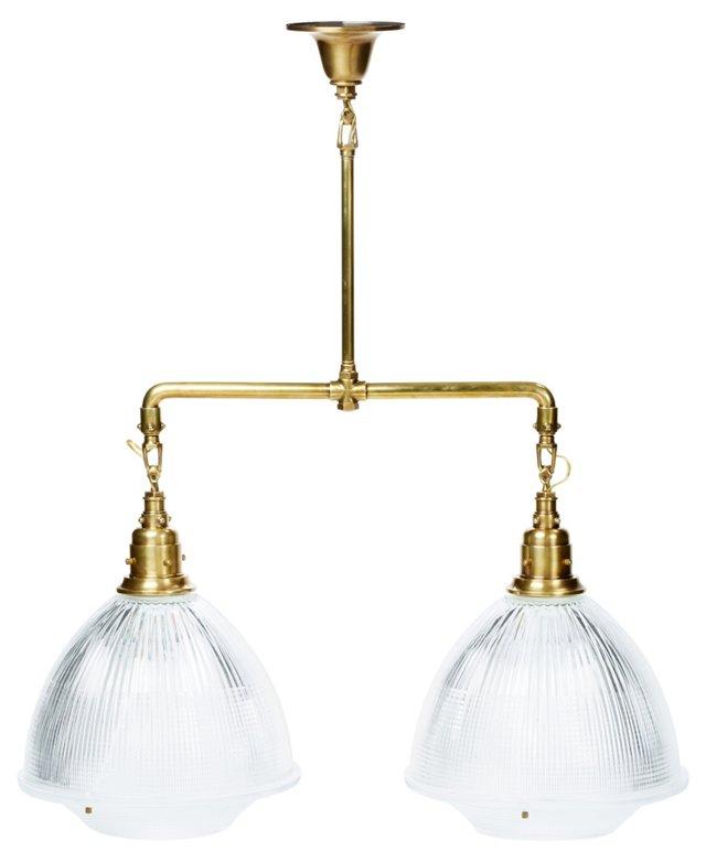 Garey 2-Light Pendant, Antiqued Brass