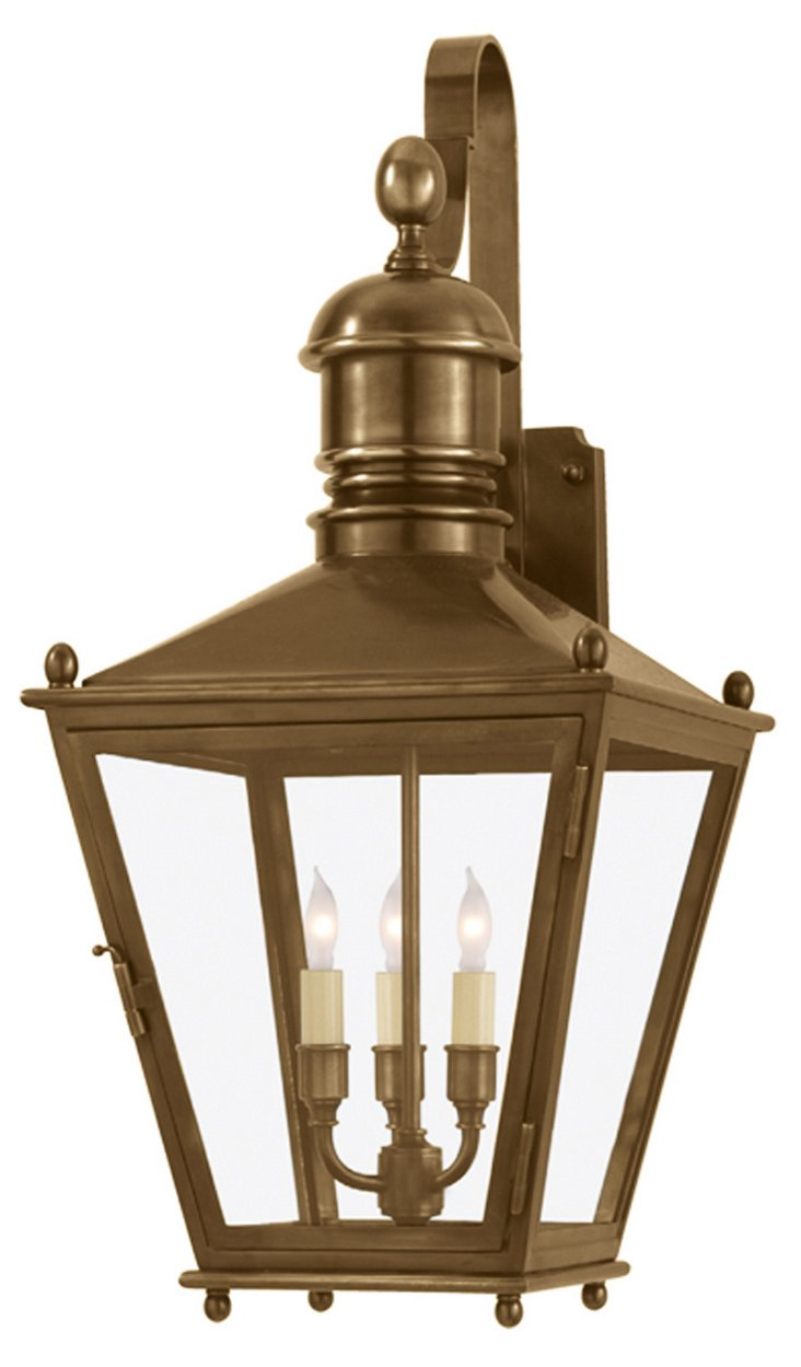 """Sussex 27"""" Wall Lantern, Brass"""