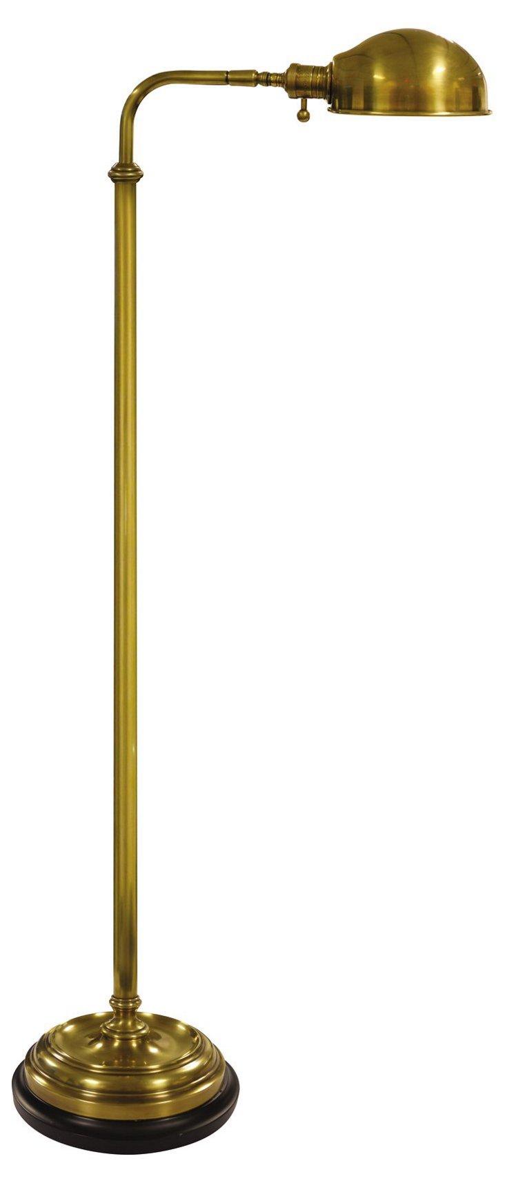 Apothecary Floor Lamp, Brass