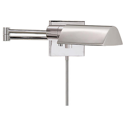 Studio Swing Arm Sconce, Polished Nickel