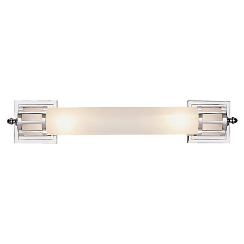 Openwork Long Sconce, Chrome
