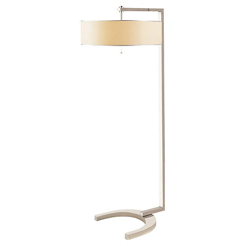 Hudson Floor Lamp, Polished Nickel