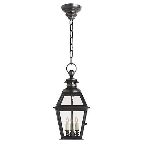 """Carmen 21""""H Bronze Hanging Lantern"""