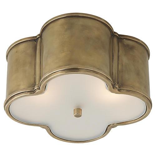 Basil Flush Mount, Brass