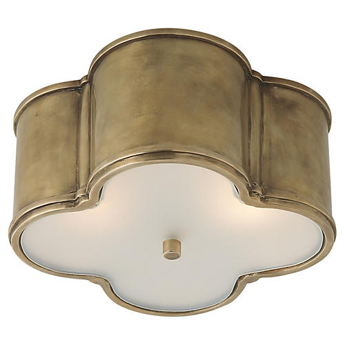 Basil Flush Mount, Brass