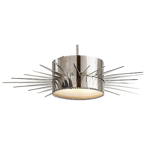 Soleil Pendant, Polished Nickel