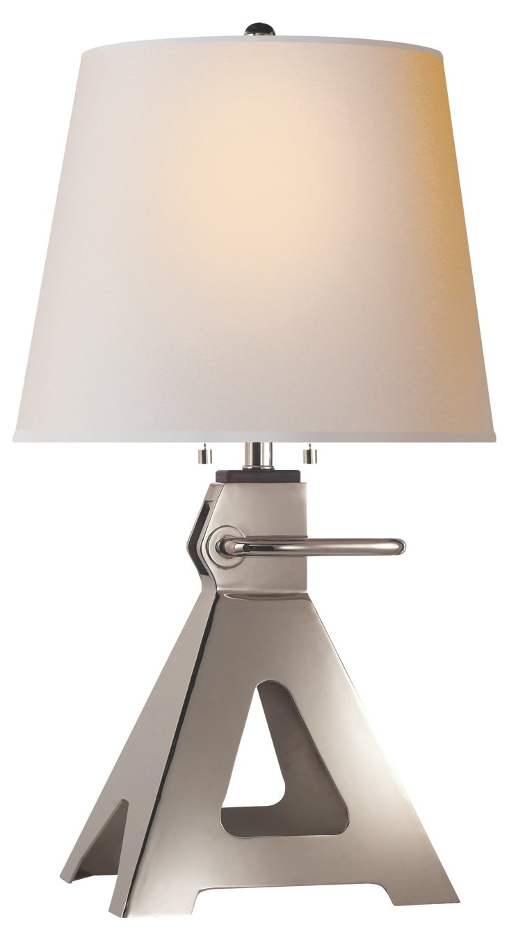 Loughlin Table Lamp, Polished Nickel