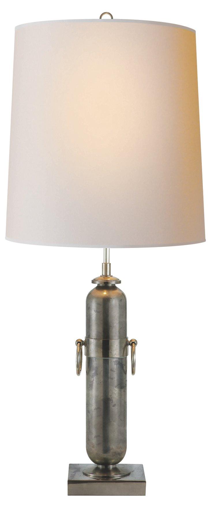 Jonathan Table Lamp, Sheffield Nickel