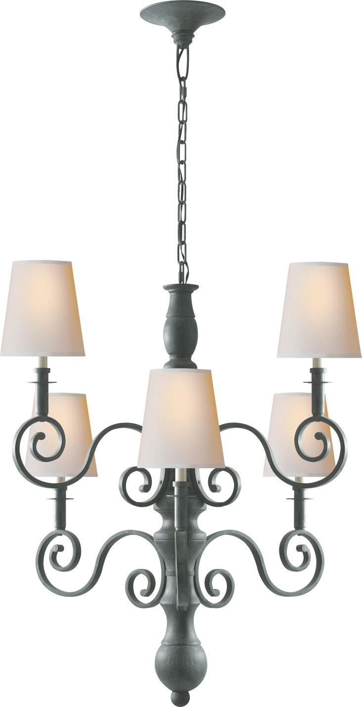 Lillie Road 6-Light Chandelier, Green