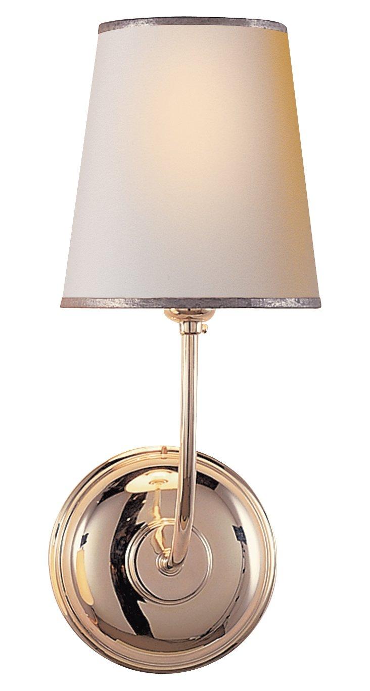 Vendome 1-Light Wall Sconce, Silver