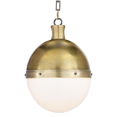 Lighting one kings lane hicks pendant hand rubbed brass aloadofball Images