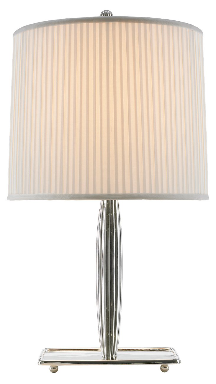 Socialite Table Lamp, Polished Silver