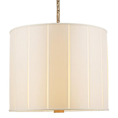 Perfect Pleat Pendant, Brass