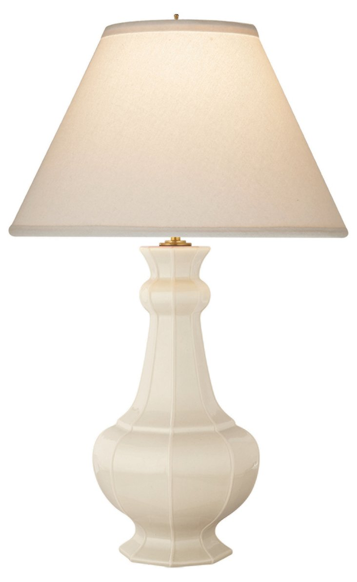 Greta Porcelain Table Lamp, Ivory