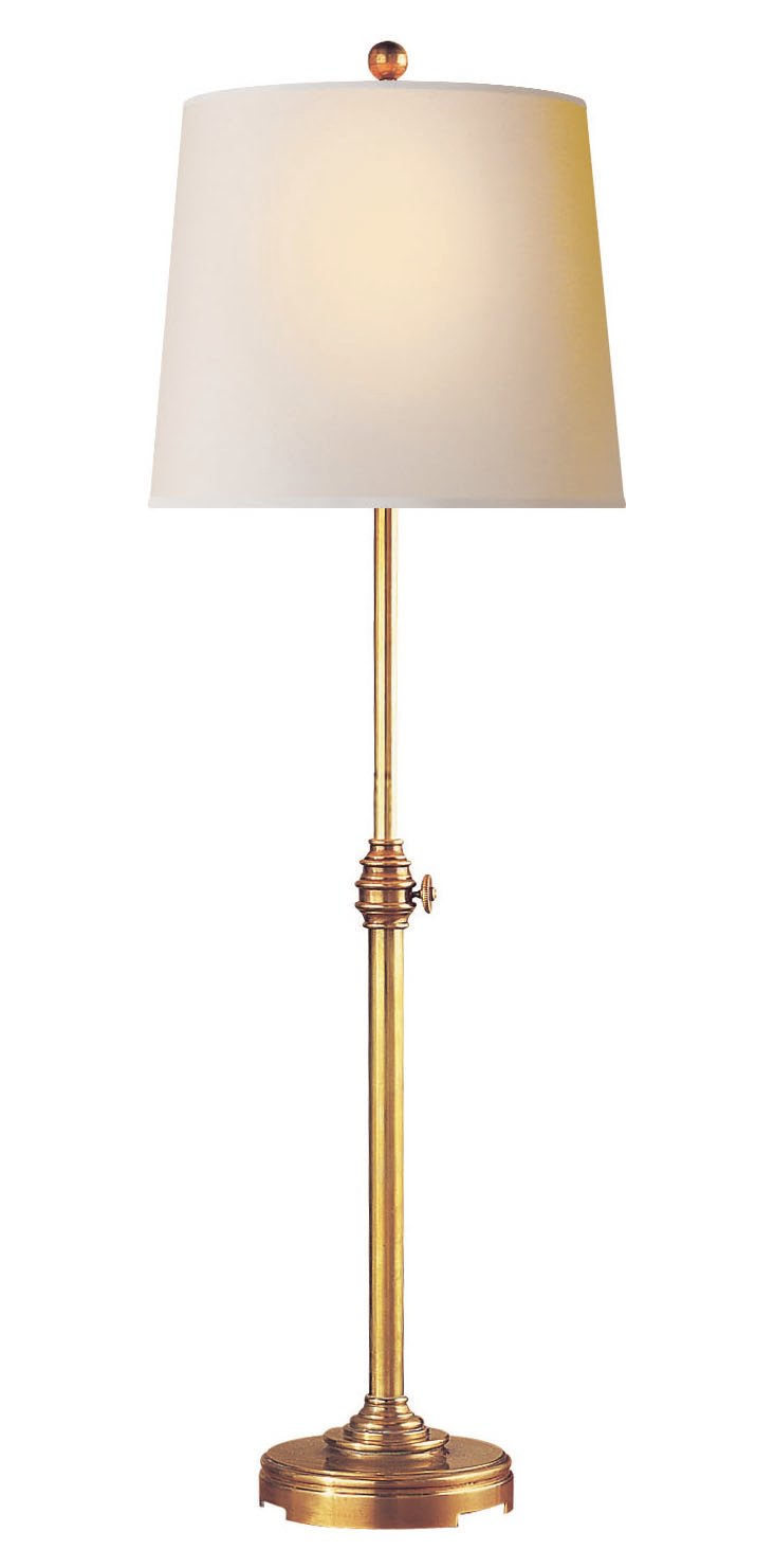 Photographer Console Table Lamp, Brass