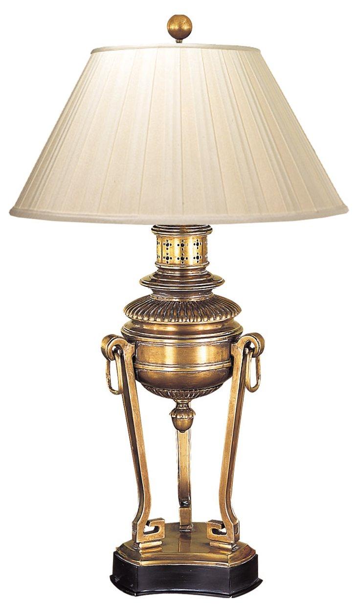 Trionne Burner Lamp, Brass