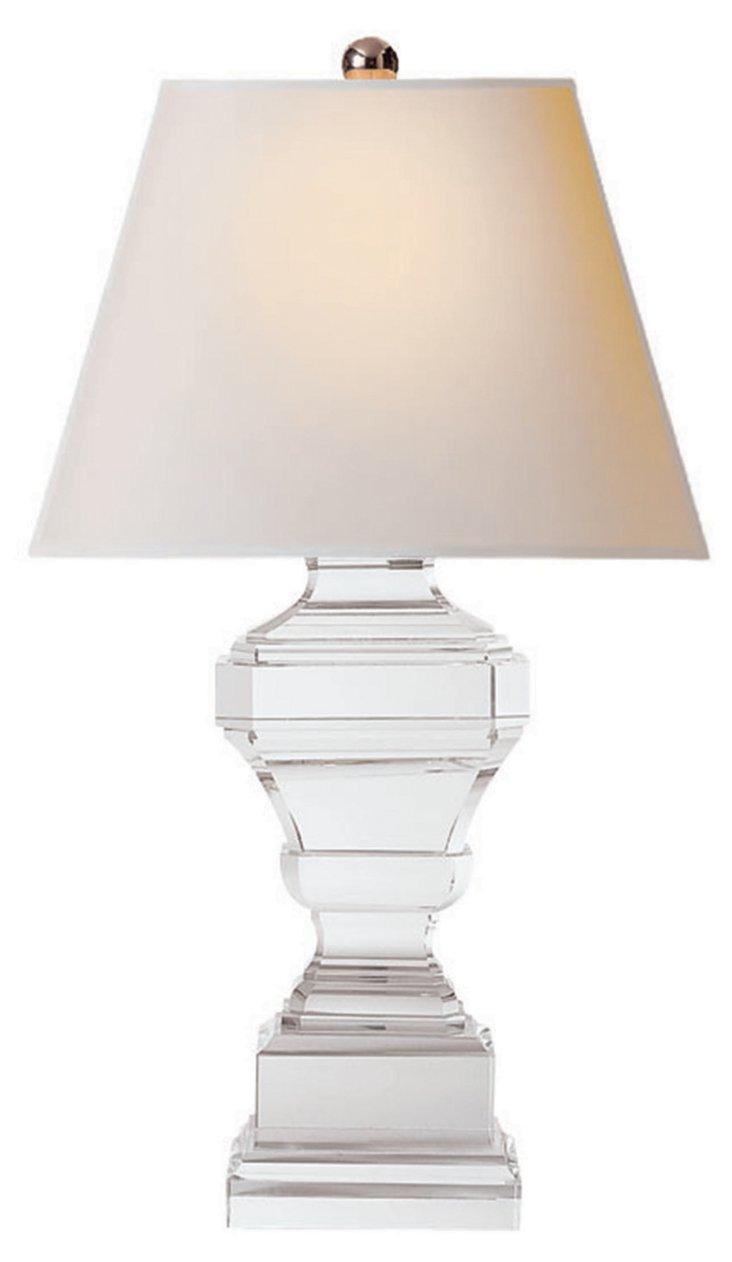 Cut Corners Urn Table Lamp, Crystal