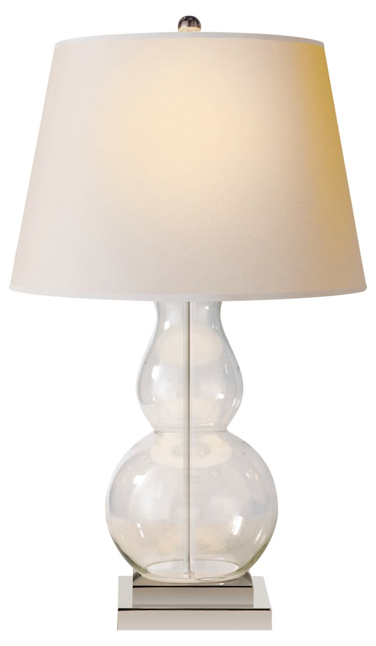 Gourd Table Lamp, Clear
