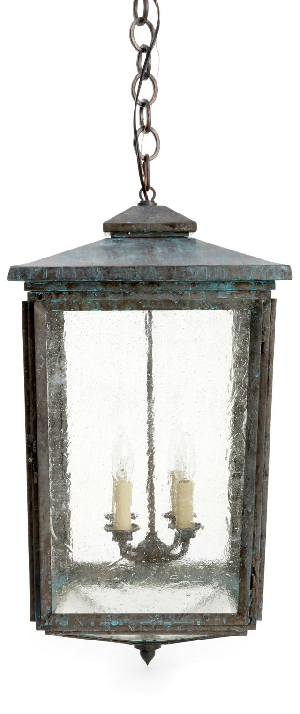 Wales Tall Lantern, Antiqued Zinc