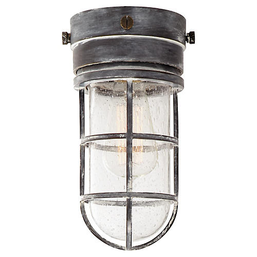 Marine Indoor/Outdoor Flush Mount, Zinc
