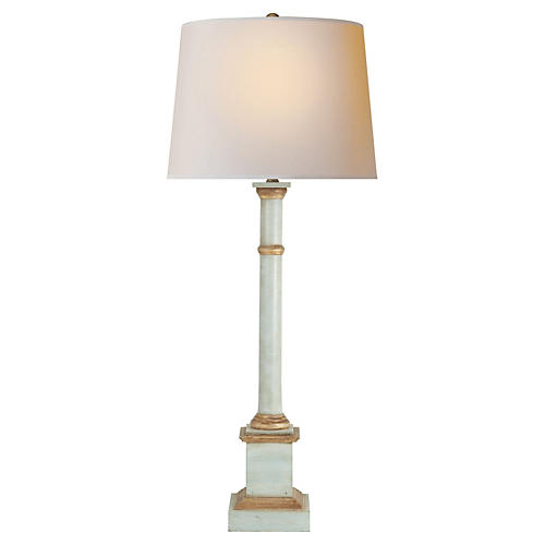 Josephine Table Lamp, Light Blue