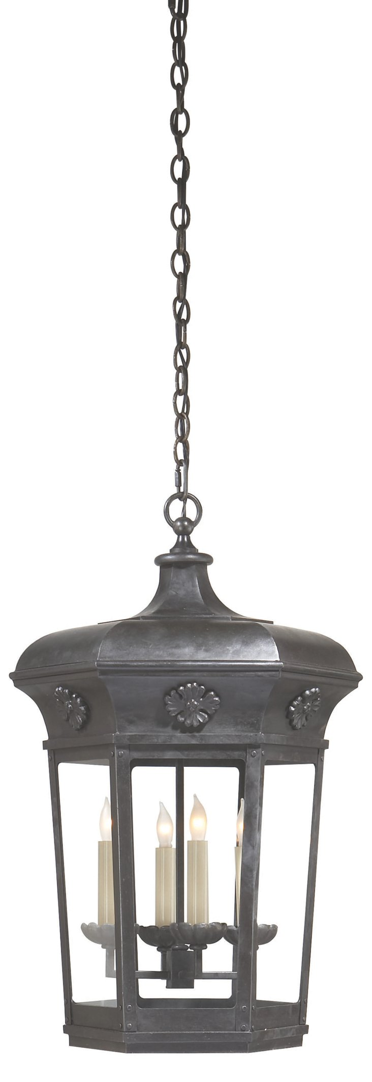 Delville 4-Light Hanging Lantern, Iron