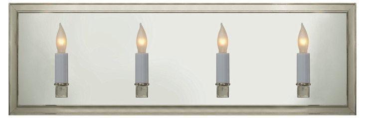 Lund 4-Light Linear Sconce, Nickel