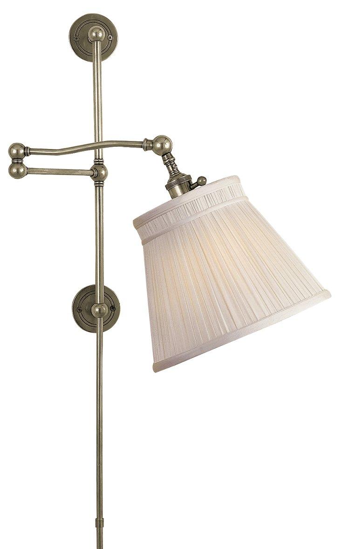 Bourbon Street Hi-Lo Wall Lamp, Nickel