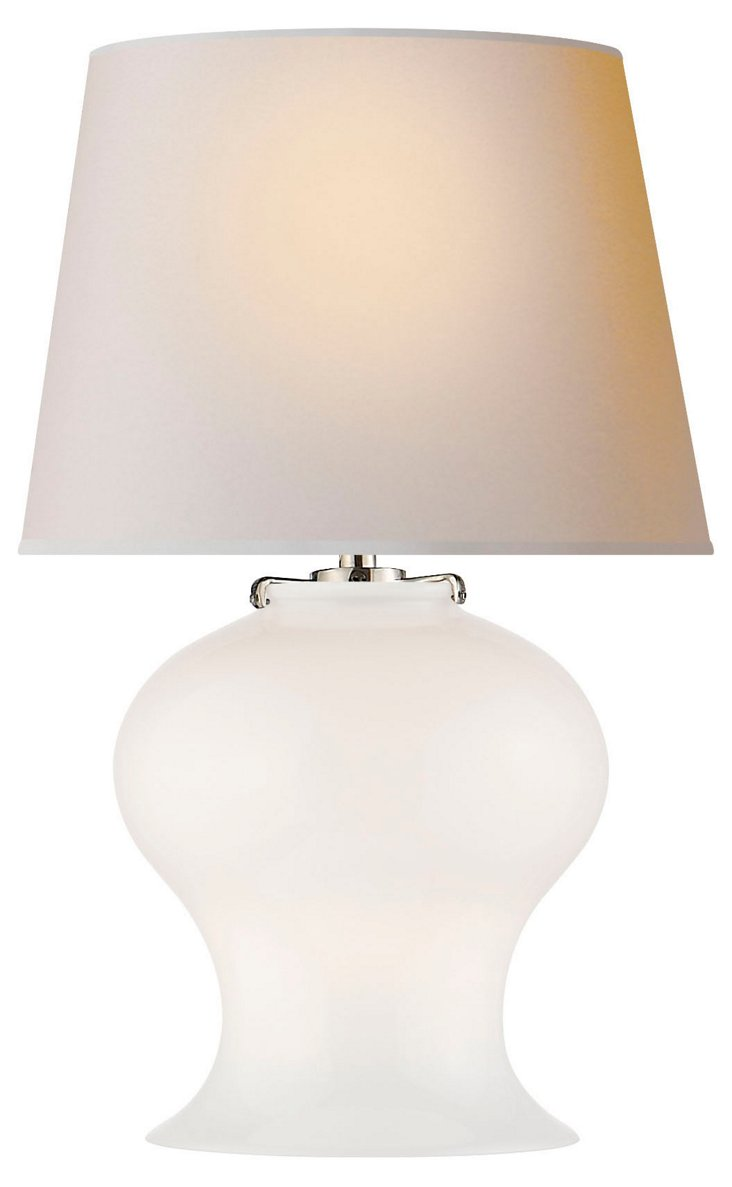 Katie Bell Jar Table Lamp, White