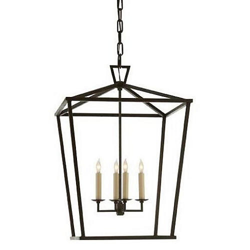 Pendant lights other fixtures one kings lane darlana 4 light lantern iron mozeypictures Image collections