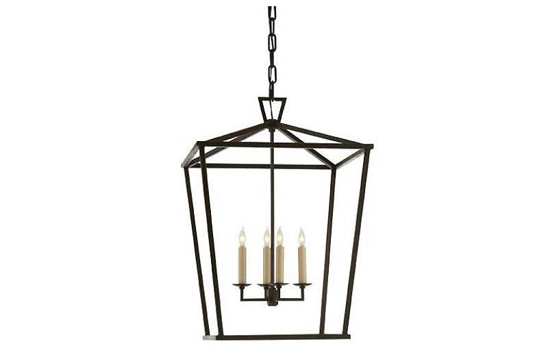 Darlana 4-Light Lantern - Iron - Visual Comfort & Co.