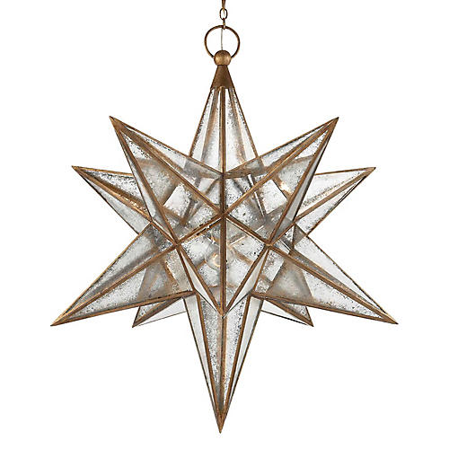 Moravian Star Lantern, Gilt